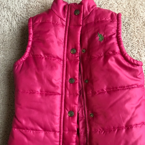 Polo girls pink puffer vest size 3T